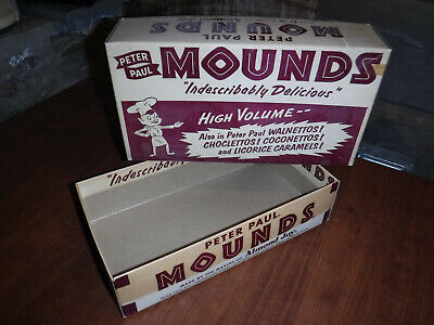Vintage 1940S Peter Paul Mounds Store Display Candy Bar Box 10 Cents Made In Usa