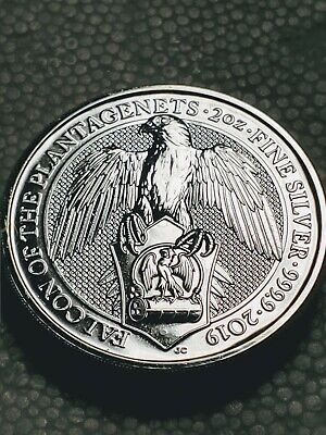 2019 Great Britain 2 oz Silver Queen's Beasts The Falcon! ( some MS )