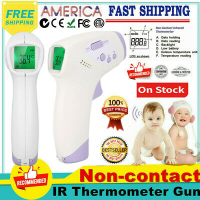 Infrared Digital Forehead Thermometer No Touch Baby Adult Temperature Gun Body y