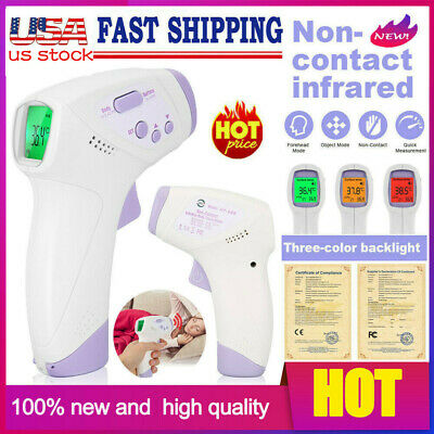 Infrared Thermometer LCD Laser Temperature Gun Non-contact Digital Temp Meter IR