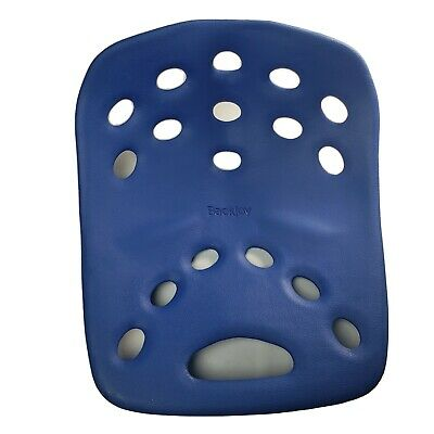 BackJoy Posture+ SitSmart Back Support Lumbar Pain Relief Blue Seat Cushion