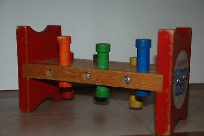 Early Wooden PLAYSKOOL Pounding Bench