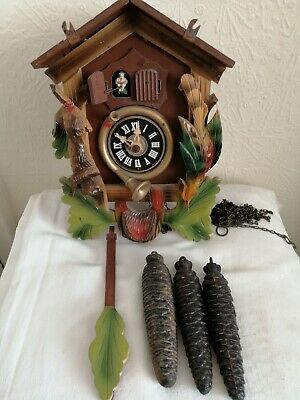Vintage, Triple Weight, Musical Cuckoo Clock. Regula 25 Movement.For Restoration