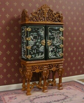 6  DOOR  CABINET ~ Hand Painted  ~ BESPAQ ~ Dollhouse ~ 1:12 scale ~ Room Box