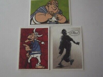 Lot De 3 Vignettes/Stickers  Panini Carrefour 60 Ans D'asterix