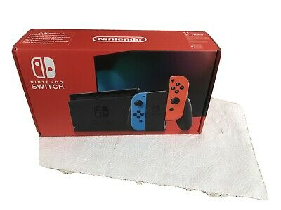 Nintendo Switch Console - Neon Blue/Red Joy-Con Controllers **improved Battery**