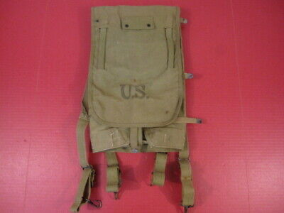 WWII US Army M1928 Haversack Pack Khaki Color Complete - Dated 1942 - XLNT #1