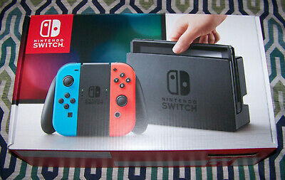 Nintendo Switch 32 GB Neon Blue and Red Console + Games & Accessories