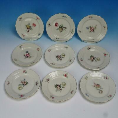 Royal Copenhagen Frijsenborg Floral 910 - 9 Bread and Butter Plates - 6¼ inches