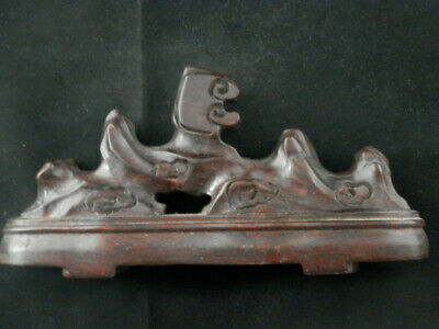8.6 Inches Large Antique Chinese Wood Hand Carved Penholder Faa003