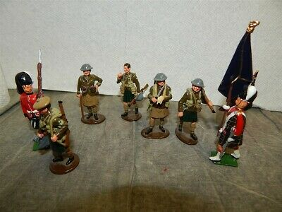 Group of Britains Metal Scottish Soldiers