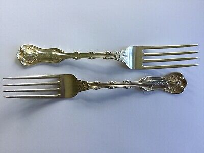 2 Antique Whiting Imperial Queen Pattern Sterling Silver Dinner Forks