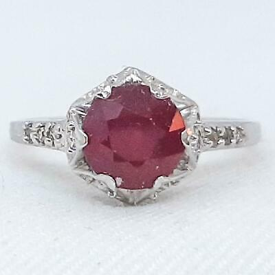 Geniune natural Ruby Beads 925 Sterling Solid Silver Pave beads findings Natural Stunning Red RUby Bead with Pave Diamonds