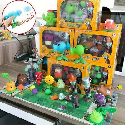 Kids Soft Glue Game Figures Zombies Plants Vs Peashooter Action Figure Toy Gift