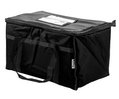 Black Insulated Catering Chafing Dish Food Full Pan Carrier Nylon Bag Storage