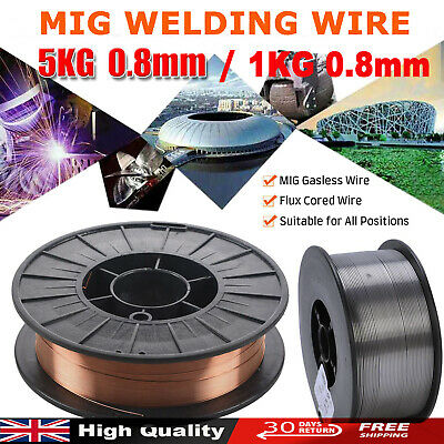 0.8mm x 15kg A18 Mild Steel Layer Wound Mig Welding Wire  Free Express delivery