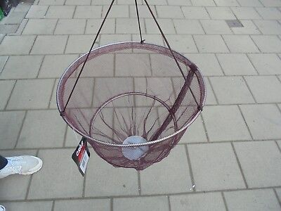 "DELUXE CRAB DROP NET WITH SPRING LOADED BAIT HOLDER.12/"" DIAMETER Free P/&P"