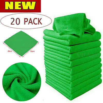 20 x LARGE MICROFIBRE CLEANING AUTO CAR DETAILING SOFT CLOTHS WASH TOWEL DUSTER