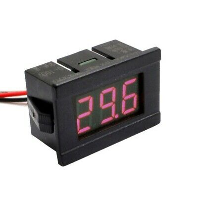 "DC 100V 0.36"" 3 Wire Voltmeter 4 Digital LED Display Voltage Panel Meter Red"