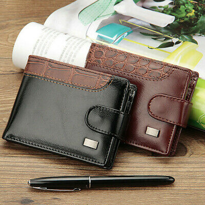 Mens Leather Wallet RFID SAFE Contactless Card Blocking ID Protection UK