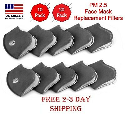 Face Mask Replacement Filters (5/10/20) 5-Layers Activated Carbon Filters