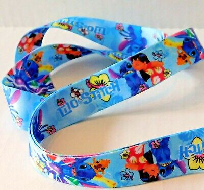 Disney Lanyard Lilo and Stitch Blue Trading Pin Cell Phone Key ID Attachment