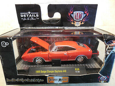 M2 Machines Detroit-Muscle 1969 Dodge Charger Daytona 440 R38 17-20 Red Details Like NO Other 1 of 6000