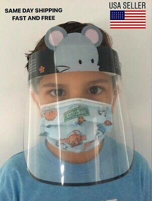 Safety Full Face Shield for Kids animal pig mouse ice cream