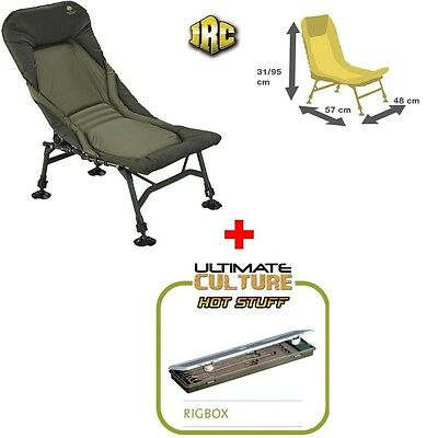 NEW JRC STEALTH X Lite Recliner Fishing Chair 1294359