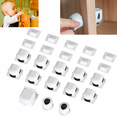 Magnetic Safety Invisible Cupboard Lock Baby Child Pet Proof Drawer Security 10X