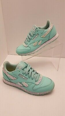 REEBOK CLASSIC LEATHER Pastels Womens Shoes Mint Green White