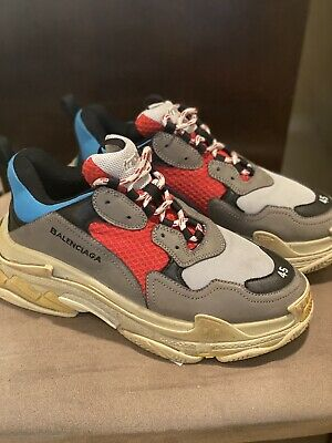 Balenciaga Leather Black Triple S Clear Sole Sneakers Lyst