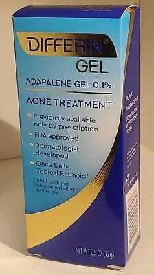 Differin Adapalene Gel 0 1 Acne Treatment 0 5 Oz 15 G