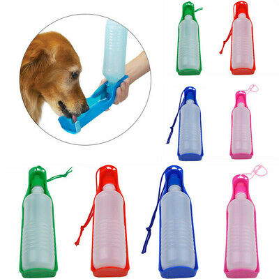 Portable Pet Dog Cat Outdoor Travel Water Bowl Bottle Feeder Drinking Dispenser