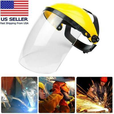 Clear Head-mounted-Protective Safety Full Face-Eye Shield Screen Grinding Cover