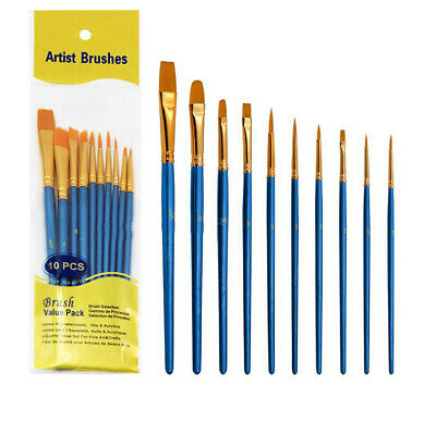 100x Micro Fine Detail Painting Brush Pro Round Pointed Tip Paint Brush Sets