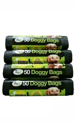 600 Extra Large Thick Dog Poo Bags (12 rolls) Doggy Waste Strong  Poop Puppy Bag