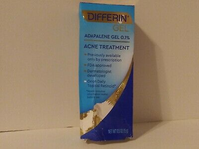 Differin Adapalene Gel 0 1 Acne Treatment 0 5 Oz 14 26 Picclick Uk