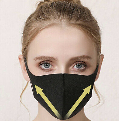 10 Pack Face Mask Washable Black Carbon Sponge Reusable Breathable Unisex Cover