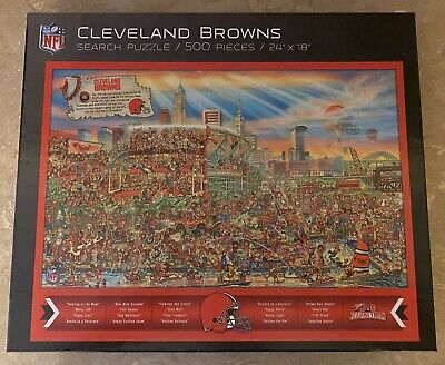 NFL Cleveland Browns 'Can You Find Joe?' Search Puzzle 2019 500 Pc