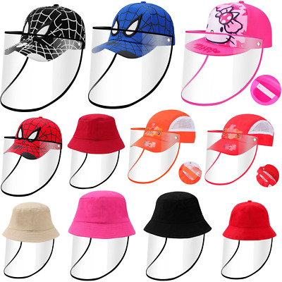 Kids Baseball Cap Anti-fog Safety Full Face Cover Protect Shield Anti-Saliva Hat