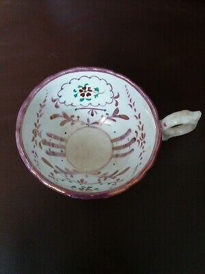 Antique Tea Cup. Porcelain-china, Hand painted pink lustre