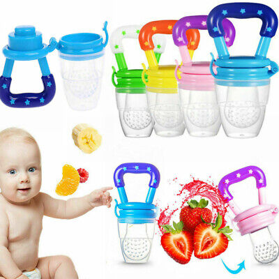 Feeding Pacifier Baby Safe Fresh Food Fruits Feeder Dummy Soother Weaning Nipple