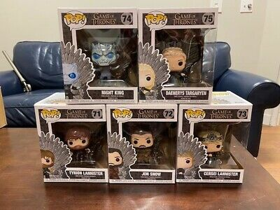 FUNKO POP! Game of Thrones: SET OF ALL 5 Characters on Iron Throne - NEW IN BOX