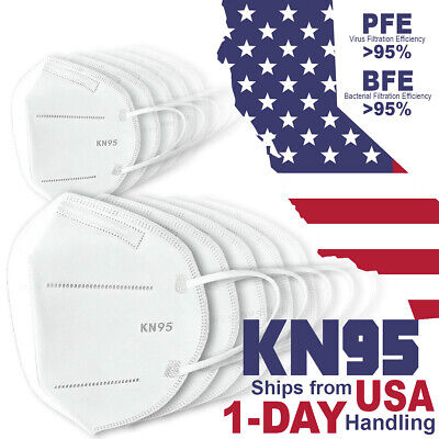 10x KN95 FDA Authorized PM 2.5 5 Layer Disposable Respirator Safety Face Mask