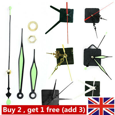 DIY Black Quartz Wall Clock Movement Mechanism Replacement Repair Tools UK
