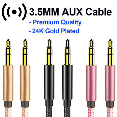 Aux Cable Audio Lead 3.5mm Jack to Jack Stereo Male for Car PC Phone MP3 iPod