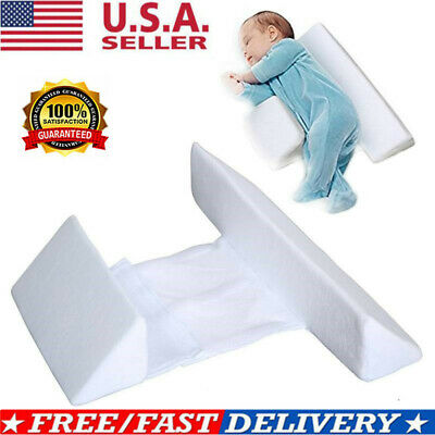 Newborn Baby Sleeping Velvet Pillow Wedge Side Cushion Support Washable-Cover