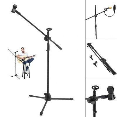 Professional Boom Studio Microphone Mic Stand Holder Adjustable W/ Free Clips