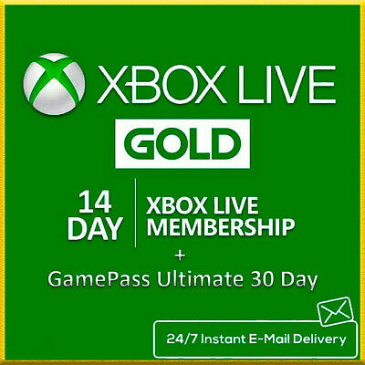 Xbox Live Gold 14 Day + Game Pass 14 Day / Instant Delivery